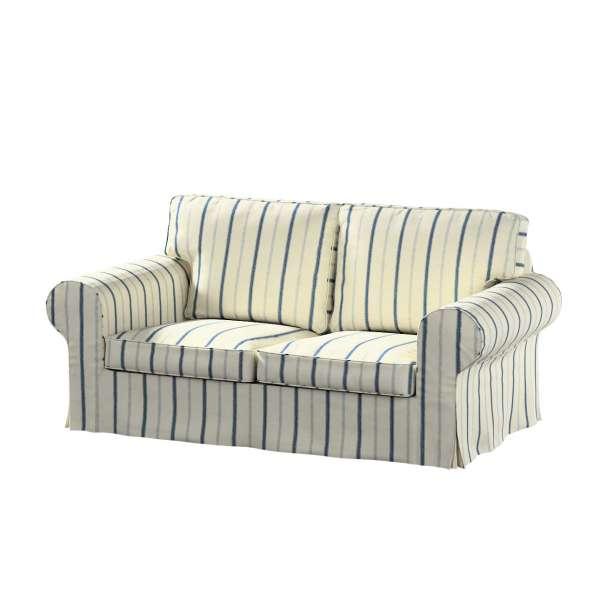 Ektorp 2-Sitzer Sofabezug nicht ausklappbar, creme- blau, für Avinon