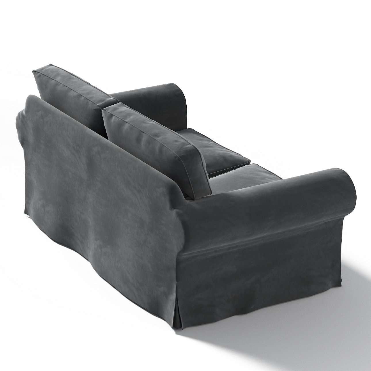 Pokrowiec na sofę Ektorp 2-osobową, nierozkładaną w kolekcji Velvet, tkanina: 704-17