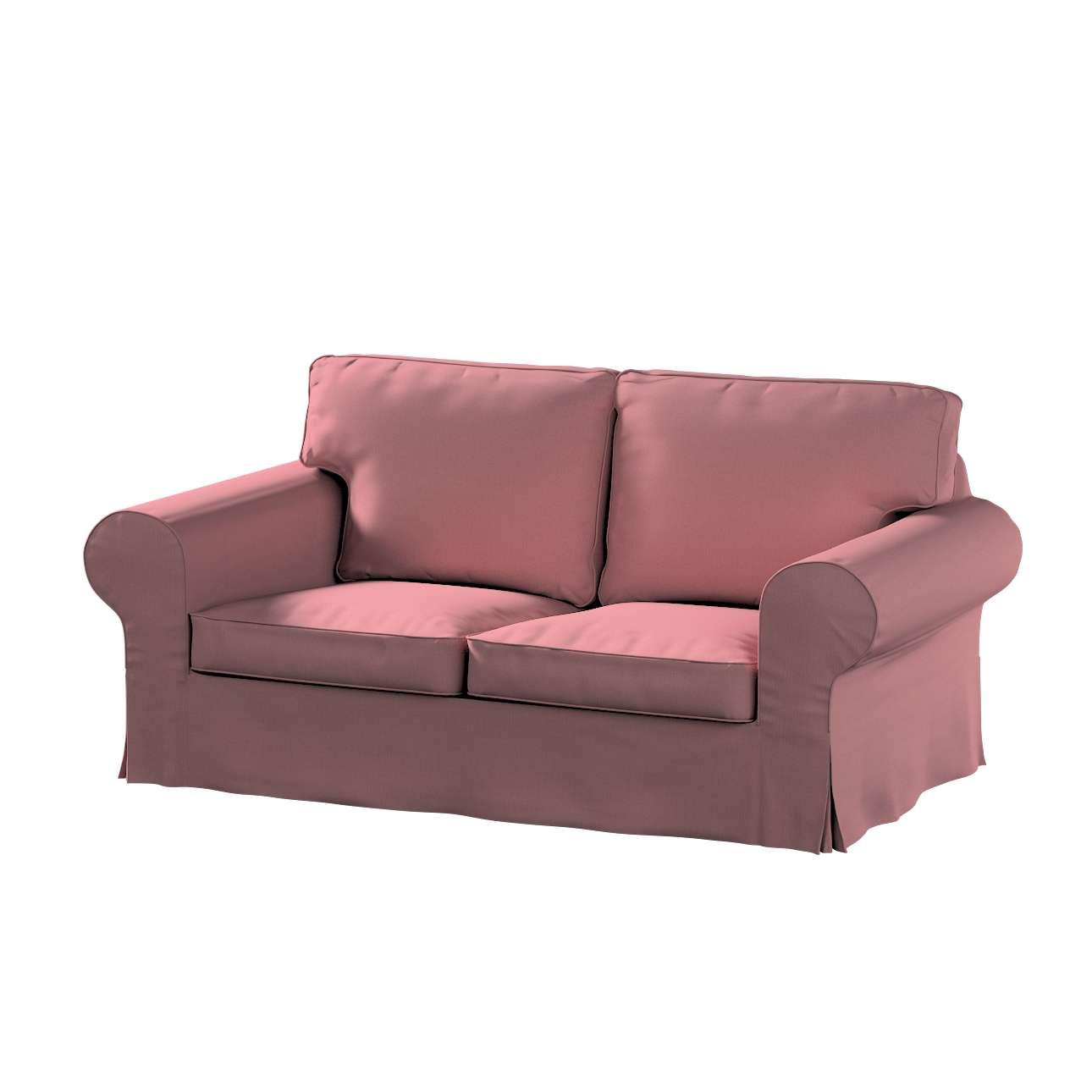 Pokrowiec na sofę Ektorp 2-osobową, nierozkładaną w kolekcji Cotton Panama, tkanina: 702-43