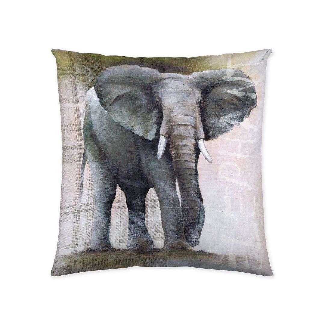 Deko-Kissenhülle Elephant 45x45cm