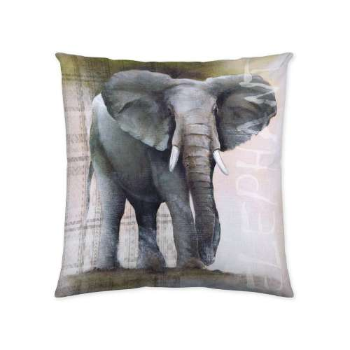 Elephant Print Cushion Cover 45x45cm