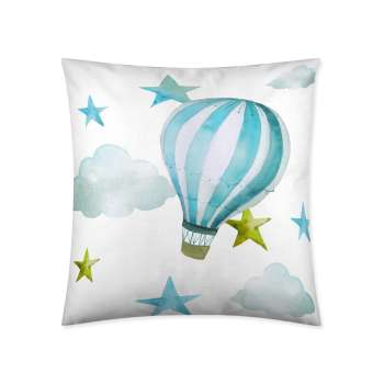 Deko-Kissenhülle Turquoise Balloon 45x45cm