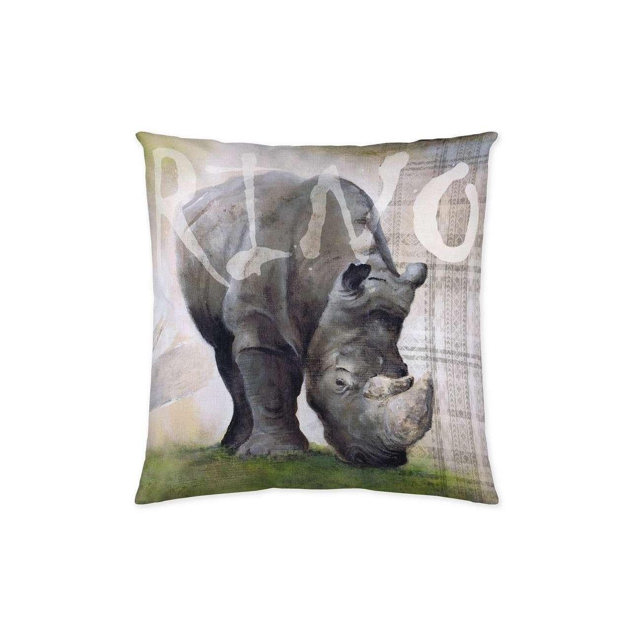 Kussenhoes Rhinoceros 45x45cm