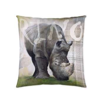 Rhinoceros 45x45cm  - Dekoria.dk