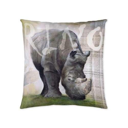 Deko-Kissenhülle Rhinoceros 45x45cm