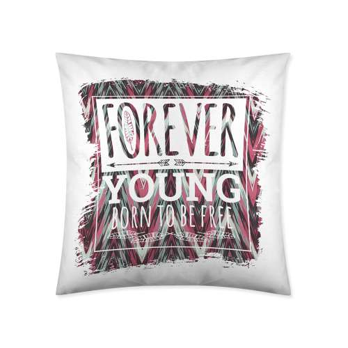 Forever Young Print Cushion Cover 45x45cm