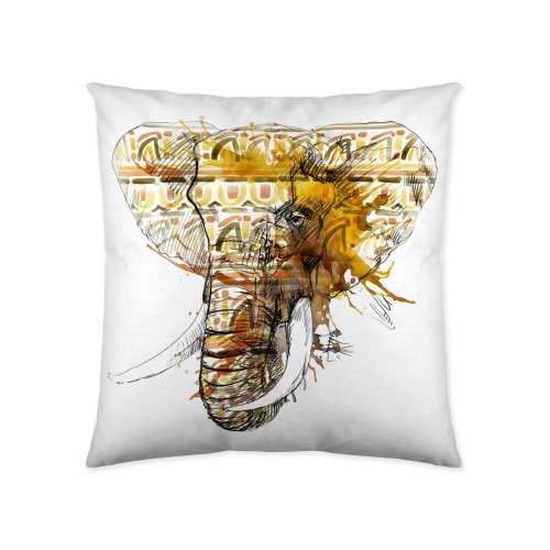 Elephant Head Print Cushion Cover 45x45cm
