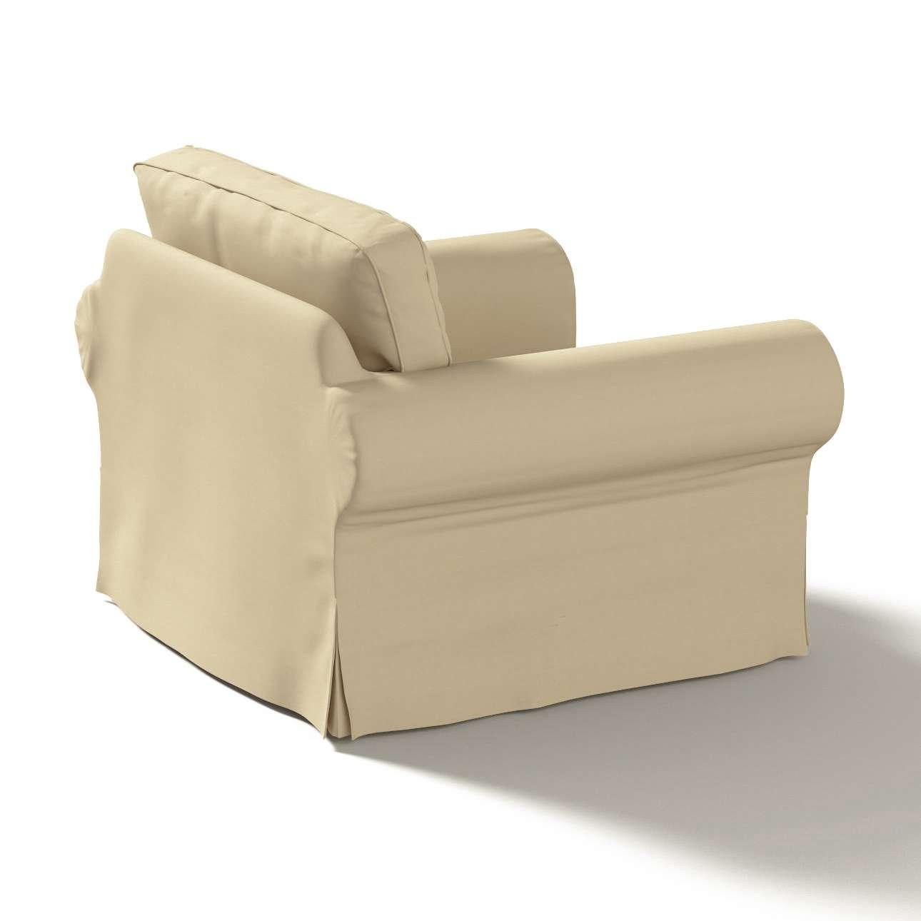 Pokrowiec na fotel Ektorp w kolekcji Cotton Panama, tkanina: 702-01