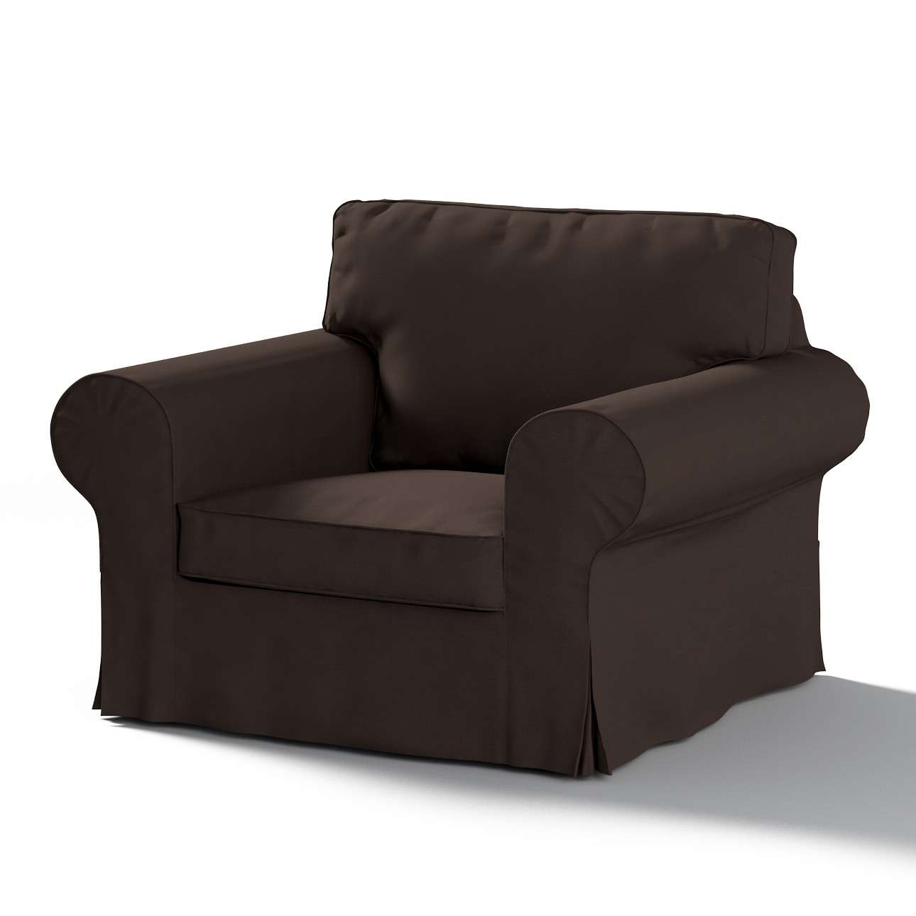 Pokrowiec na fotel Ektorp w kolekcji Cotton Panama, tkanina: 702-03