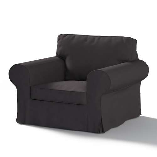 Ektorp Sesselbezug, schwarz, Sesselhusse, Ektorp Sessel, Cotton Panama
