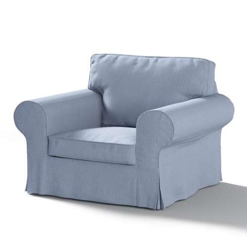 Ektorp Sesselbezug, silber- blau, Sesselhusse, Ektorp Sessel, Chenille