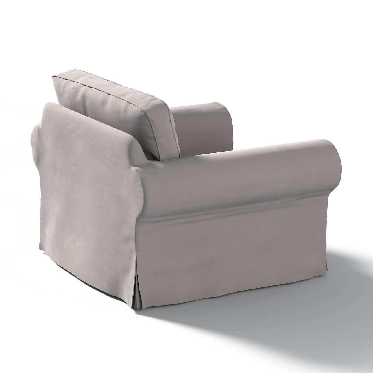 Pokrowiec na fotel Ektorp w kolekcji Velvet, tkanina: 704-11