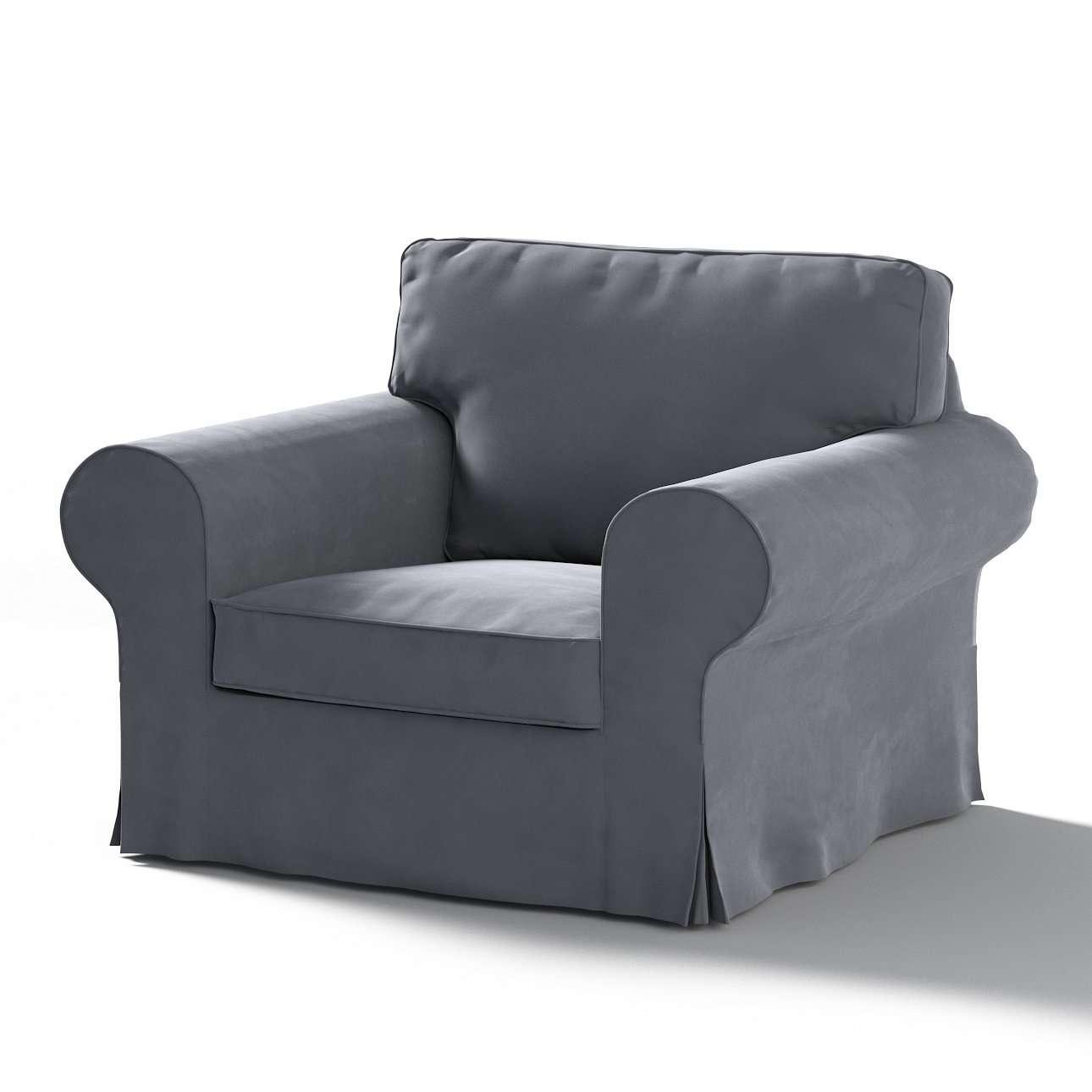 Pokrowiec na fotel Ektorp w kolekcji Velvet, tkanina: 704-12