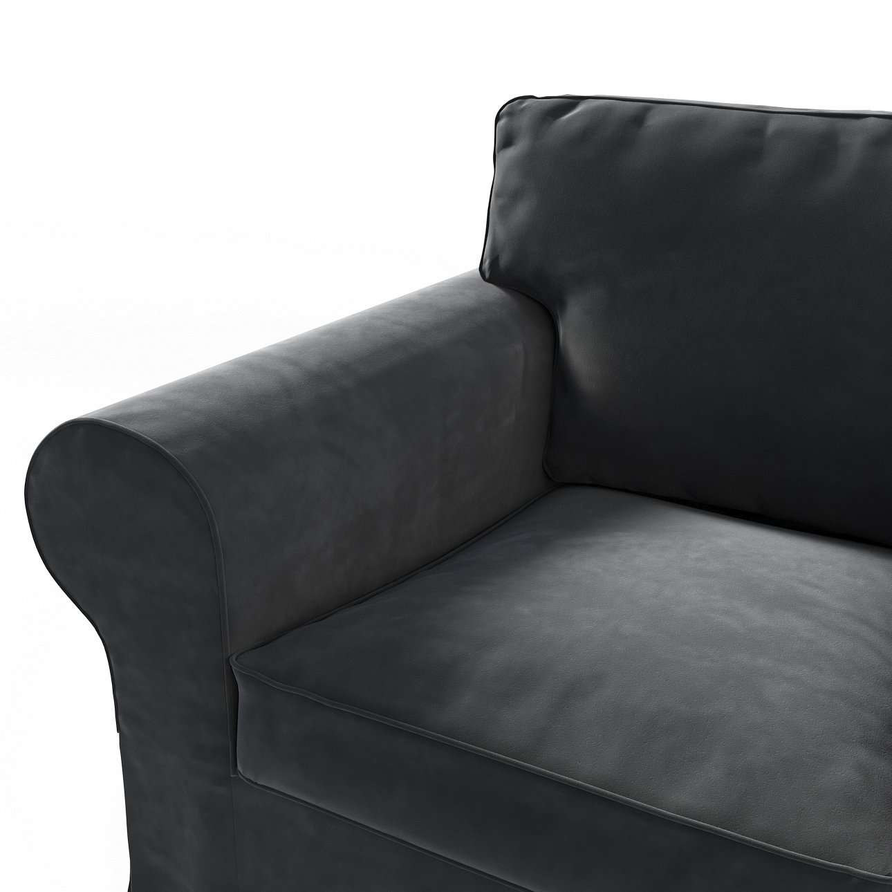 Pokrowiec na fotel Ektorp w kolekcji Velvet, tkanina: 704-17