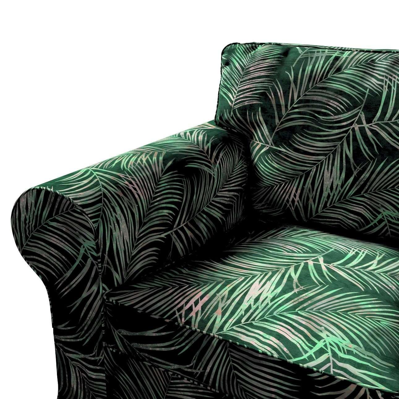 Pokrowiec na fotel Ektorp w kolekcji Velvet, tkanina: 704-21