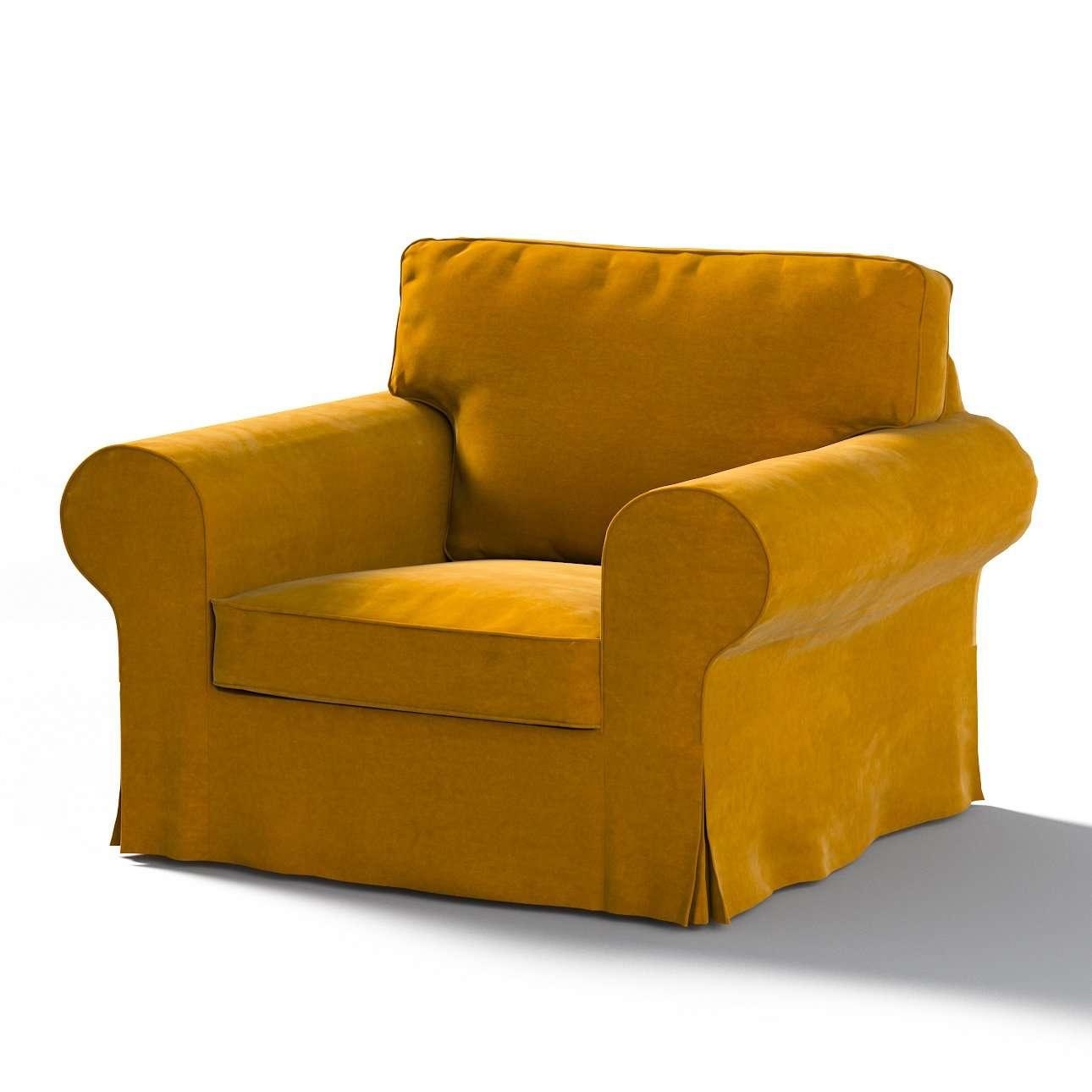 Ektorp Sesselbezug, gelb, Sesselhusse für Ektorp Sessel, Velvet | Heimtextilien > Hussen und Überwürfe | Dekoria