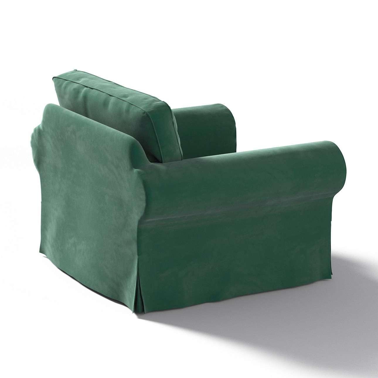 Pokrowiec na fotel Ektorp w kolekcji Velvet, tkanina: 704-25