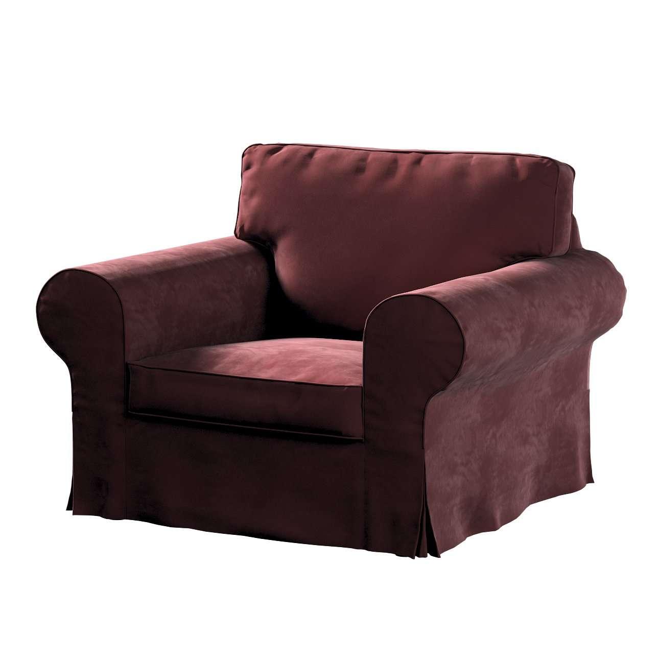 Pokrowiec na fotel Ektorp w kolekcji Velvet, tkanina: 704-26
