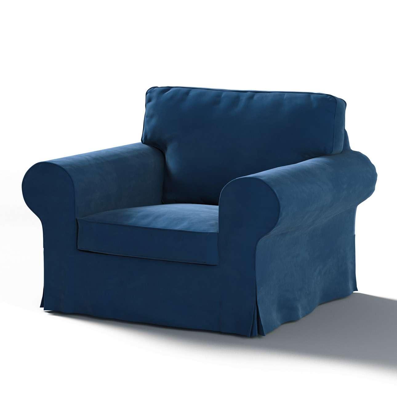 Pokrowiec na fotel Ektorp w kolekcji Velvet, tkanina: 704-29