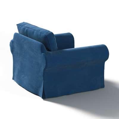 Bezug für Ektorp Sessel 704-29 dunkelblau Kollektion Velvet