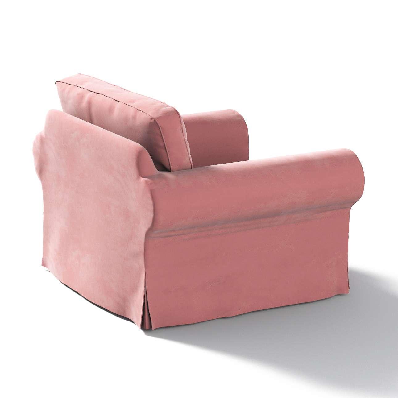 Pokrowiec na fotel Ektorp w kolekcji Velvet, tkanina: 704-30