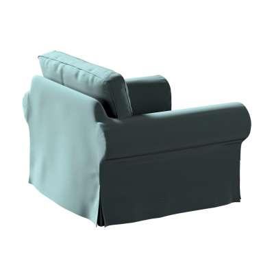 Pokrowiec na fotel Ektorp 705-36 zgaszony szmaragd - welwet Kolekcja Ingrid