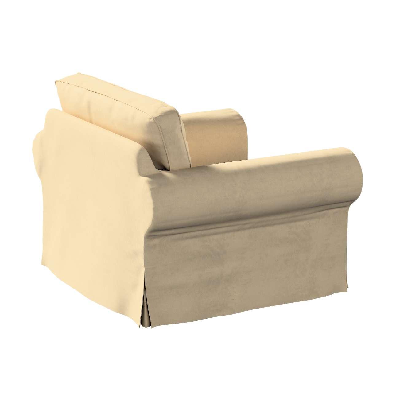 Pokrowiec na fotel Ektorp w kolekcji Living, tkanina: 160-82