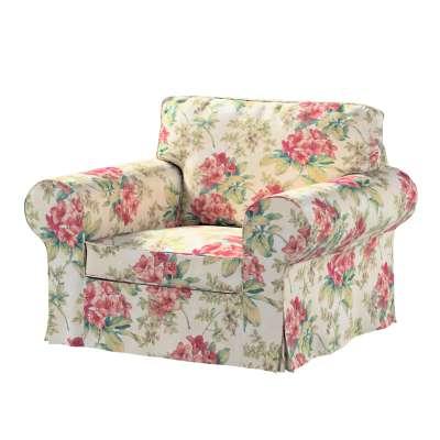Bezug für Ektorp Sessel 143-40 rosa-grün-ecru Kollektion Londres