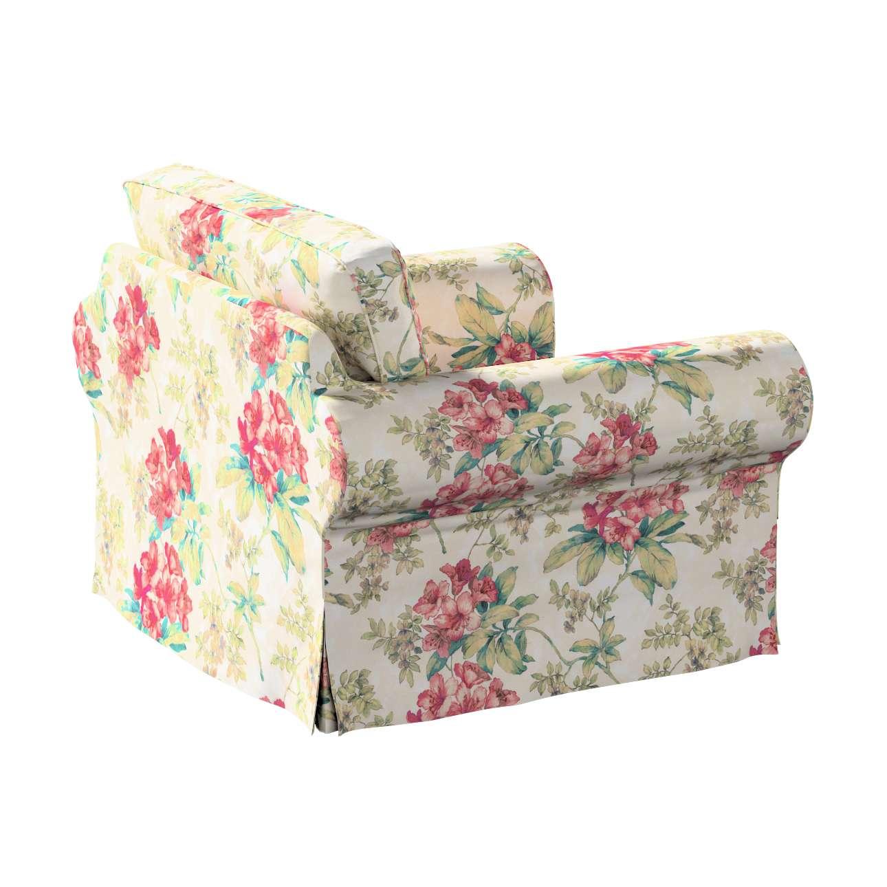Pokrowiec na fotel Ektorp w kolekcji Londres, tkanina: 143-40