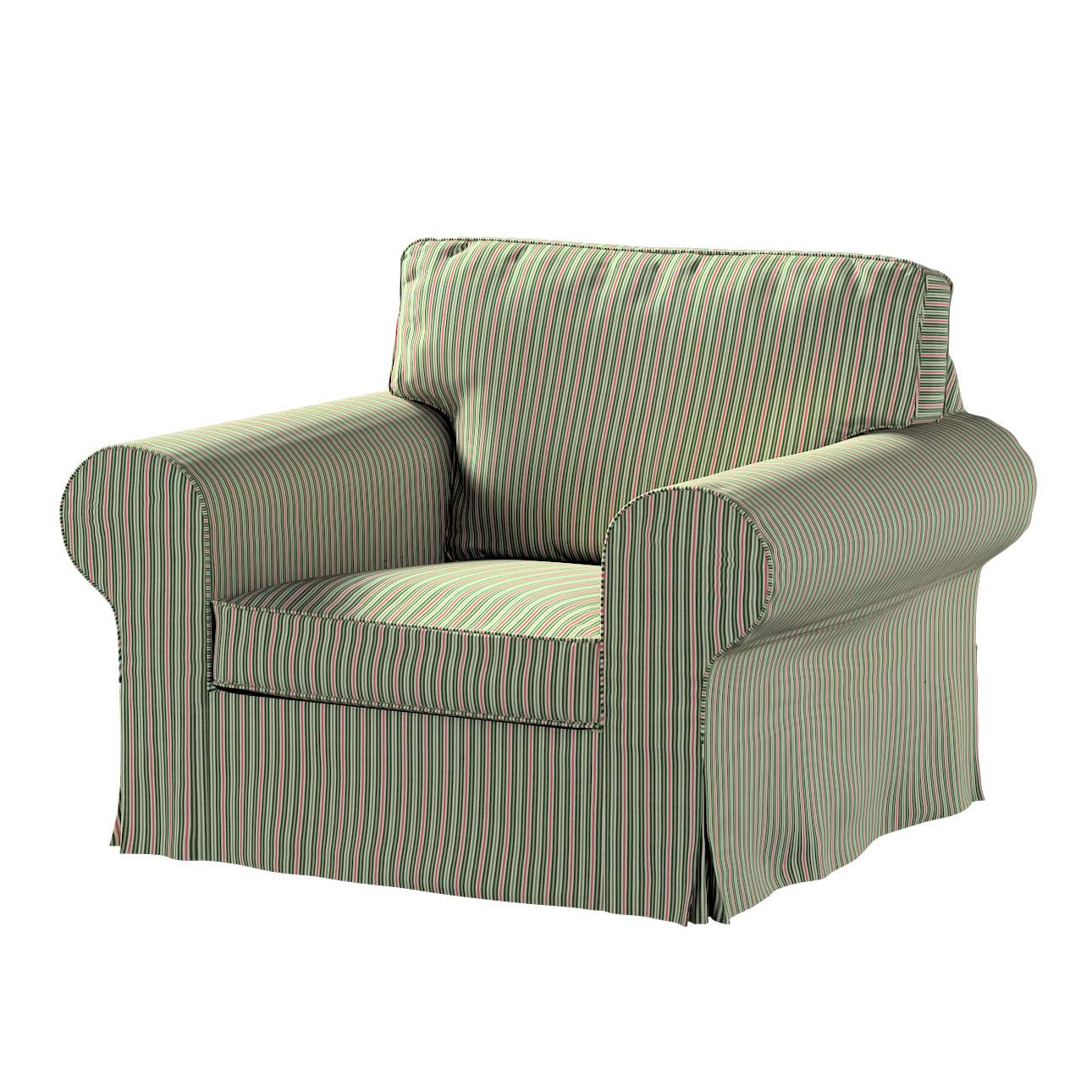 Pokrowiec na fotel Ektorp w kolekcji Londres, tkanina: 143-42