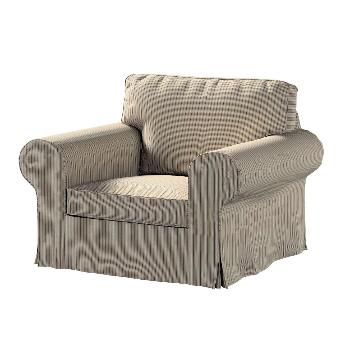 Pokrowiec na fotel Ektorp w kolekcji Londres, tkanina: 143-38