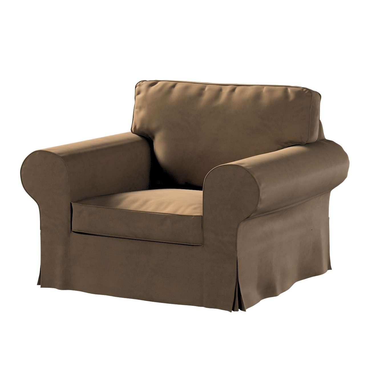 Pokrowiec na fotel Ektorp w kolekcji Living, tkanina: 160-94