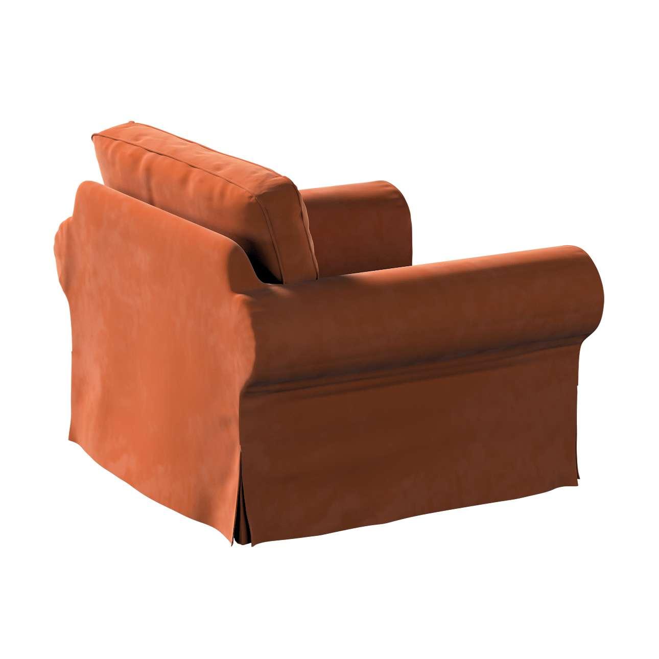 Pokrowiec na fotel Ektorp w kolekcji Velvet, tkanina: 704-33