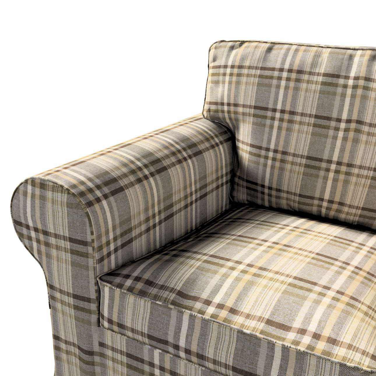 Pokrowiec na fotel Ektorp w kolekcji Edinburgh, tkanina: 703-17