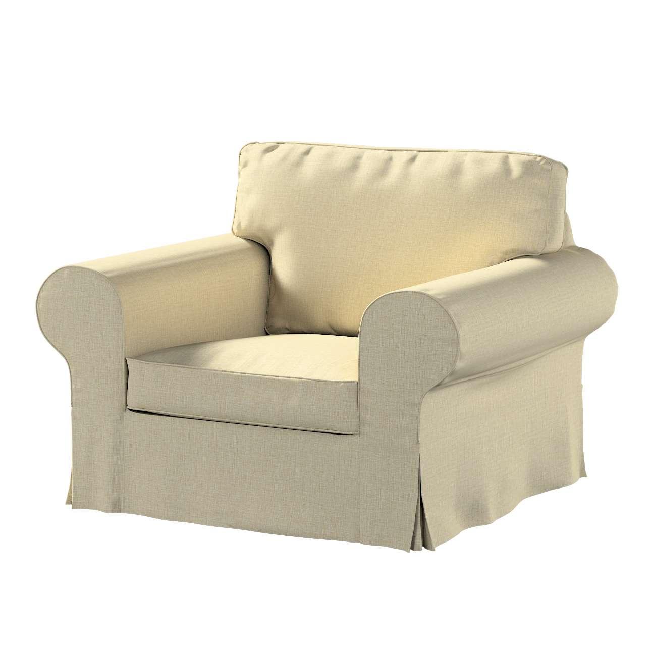 Pokrowiec na fotel Ektorp w kolekcji Living, tkanina: 161-45