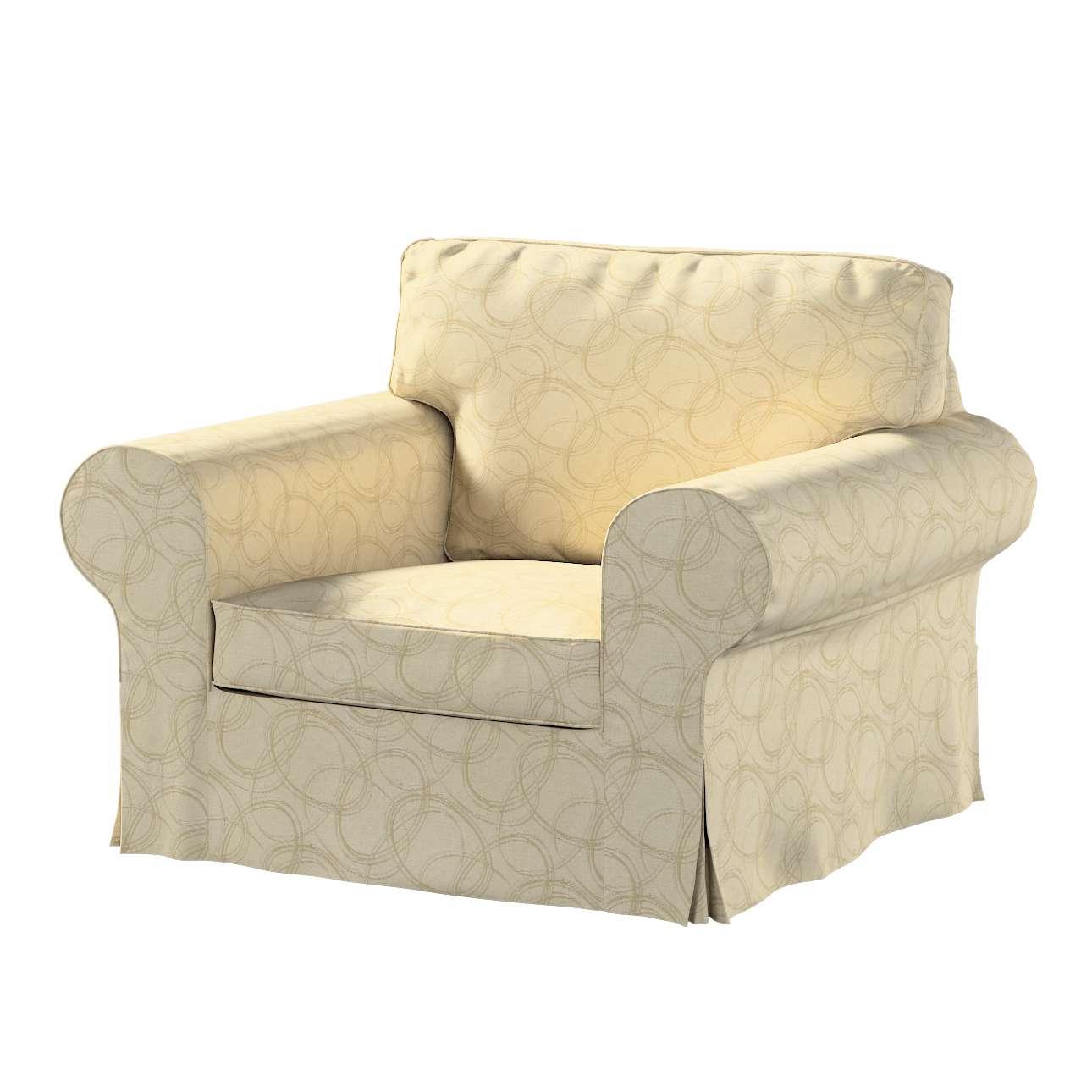 Pokrowiec na fotel Ektorp w kolekcji Living, tkanina: 161-81