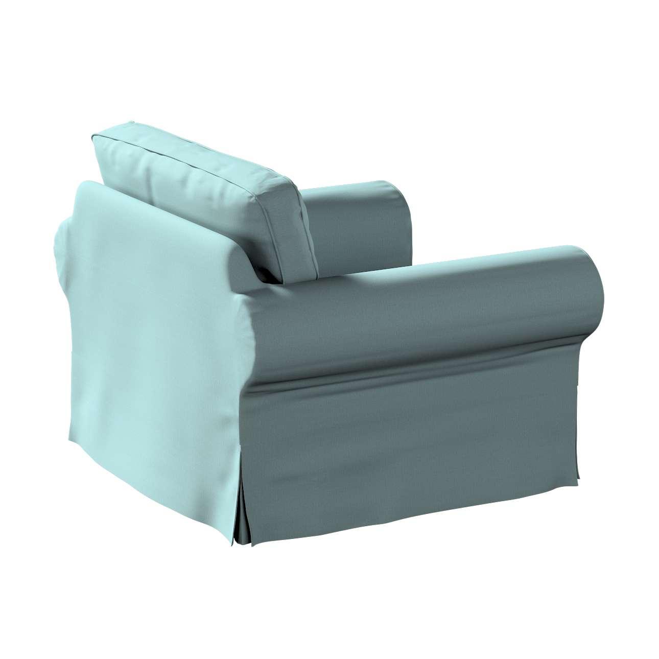 Pokrowiec na fotel Ektorp w kolekcji Cotton Panama, tkanina: 702-40
