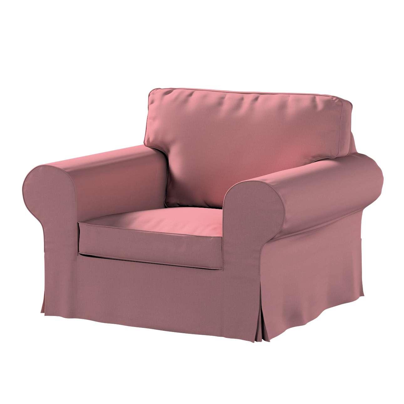 Pokrowiec na fotel Ektorp w kolekcji Cotton Panama, tkanina: 702-43