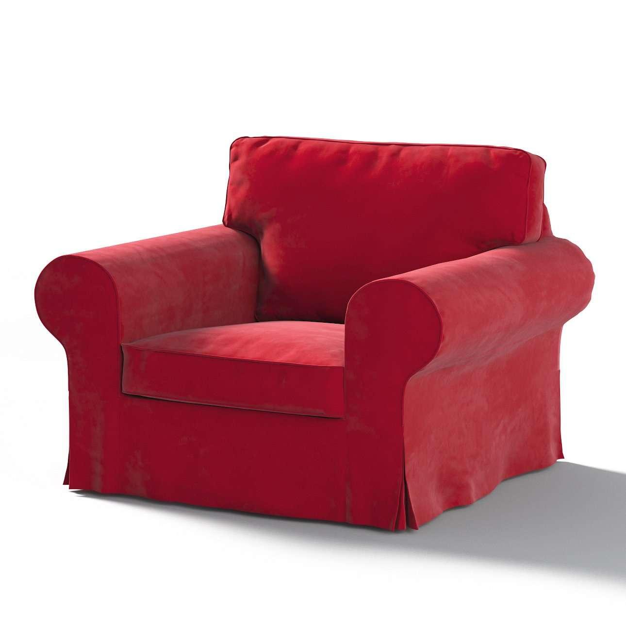 Pokrowiec na fotel Ektorp w kolekcji Christmas, tkanina: 704-15