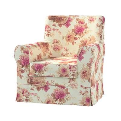 EKTORP JENNYLUND fotelio užvalkalas 141-06 gėlės gelsvai  šviesiame fone Kolekcija Londres