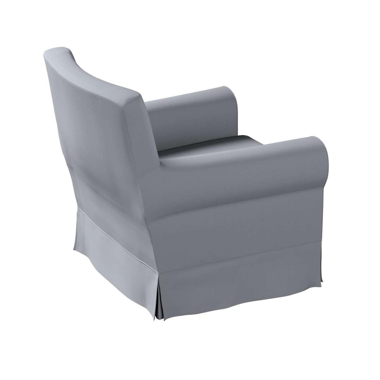 Pokrowiec na fotel Ektorp Jennylund w kolekcji Cotton Panama, tkanina: 702-07