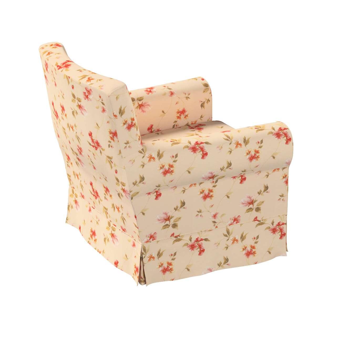 Pokrowiec na fotel Ektorp Jennylund w kolekcji Londres, tkanina: 124-05