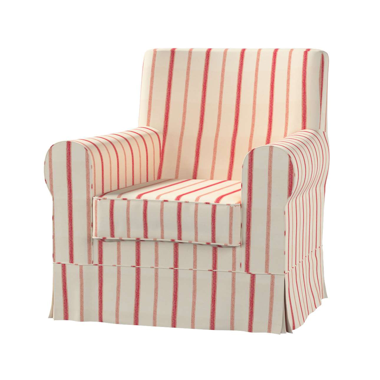 Ektorp Jennylund armchair cover Ektorp Jennylund armchair cover in collection Avinon fabric 129-  sc 1 st  Dekoria & Ektorp Jennylund armchair cover red stripes ivory background ...