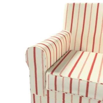 Ektorp Jennylund Armchair Cover Red Stripes Ivory