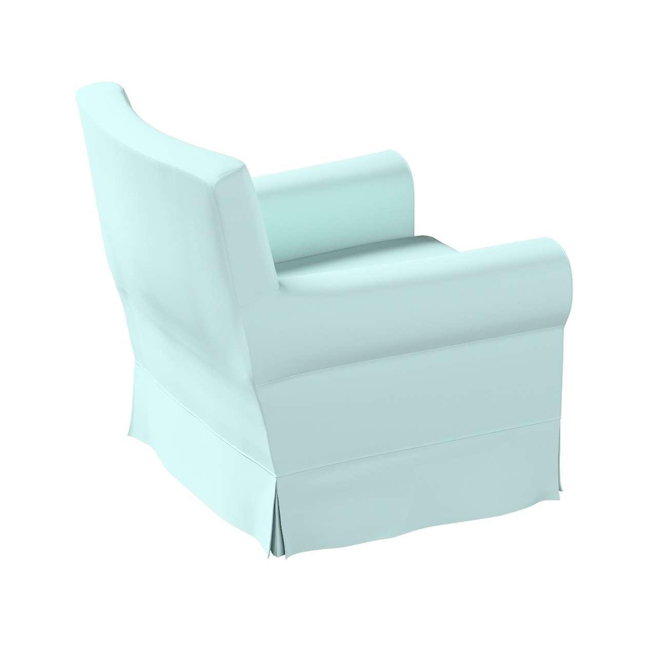 Pokrowiec na fotel Ektorp Jennylund w kolekcji Cotton Panama, tkanina: 702-10