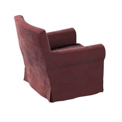 Pokrowiec na fotel Ektorp Jennylund w kolekcji Velvet, tkanina: 704-26