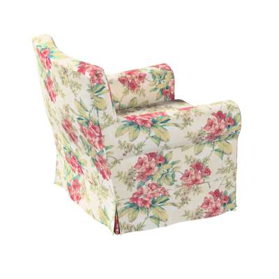 Bezug für Ektorp Jennylund Sessel 143-40 rosa-grün-ecru Kollektion Londres