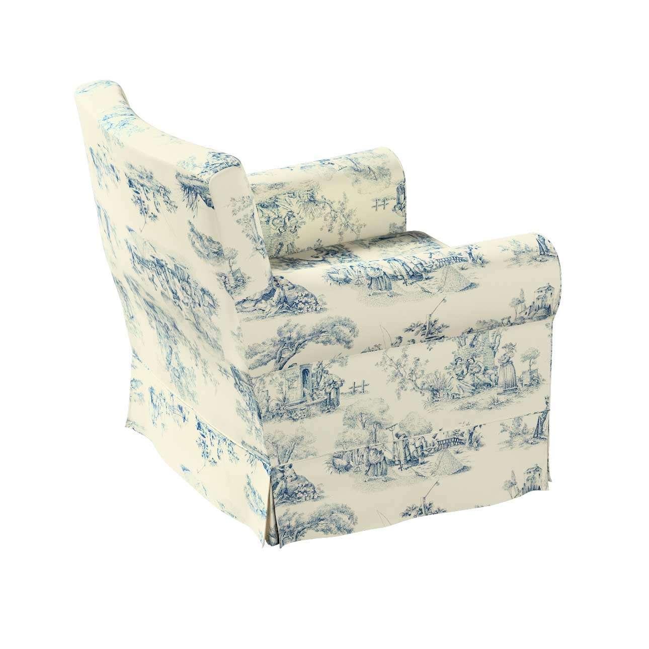 Pokrowiec na fotel Ektorp Jennylund w kolekcji Avinon, tkanina: 132-66