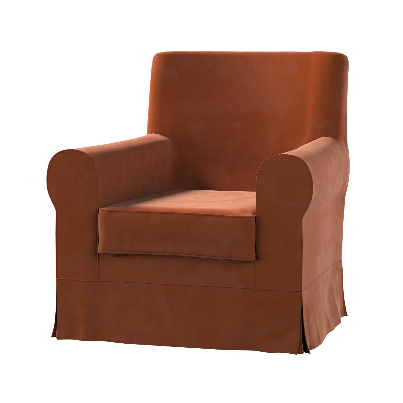 Pokrowiec na fotel Ektorp Jennylund w kolekcji Velvet, tkanina: 704-33