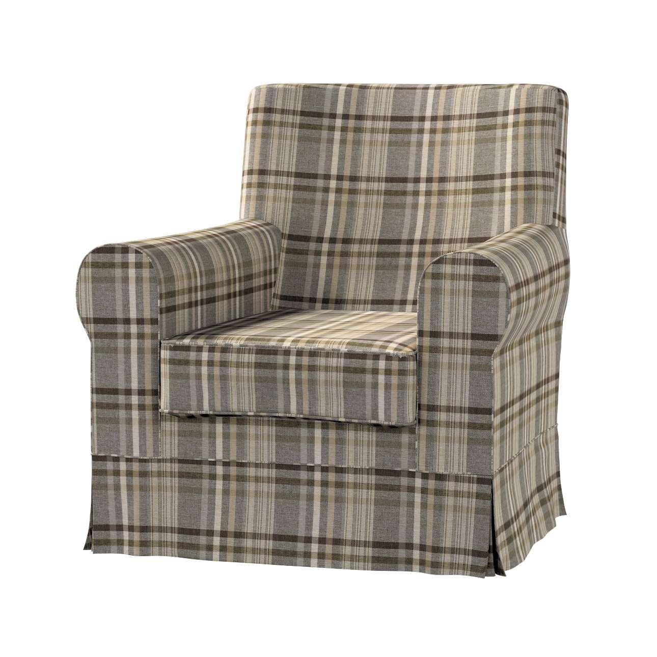 Pokrowiec na fotel Ektorp Jennylund w kolekcji Edinburgh, tkanina: 703-17